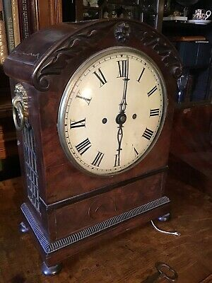 Early C19 Antique 8 Day Fusee Pull Repeat Bracket Clock With Bracket For Restora