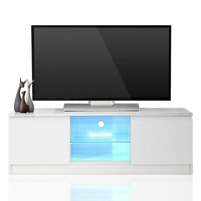 Nidouillet TV Cabinet Multi-function TV Stand LED Back light AB070