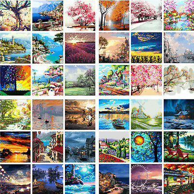 DIY Natural Scenery Paint By Number Kit Oil Painting Kid Gift Edu ADHD Home Art