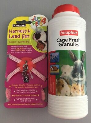 rabbit & guinea pig harness and cage fresh granules