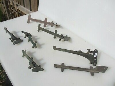 Antique Brass Shelf Brackets Cistern Holders Shelve Old Vintage Edwardian - Deco