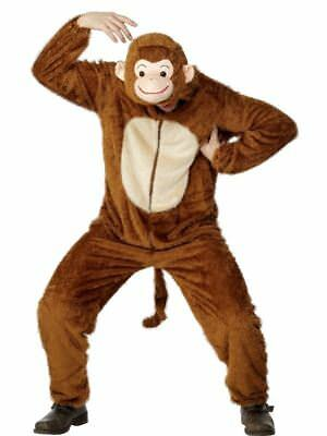 """Monkey Costume, Adult, Chest 42""""-44"""", Party Animals Fancy Dress"""