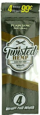 Twisted Wraps Plain Jane - 1 PACK - Natural Rolling Papers