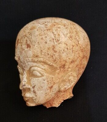 Amazing Unique Egyptian Antique Head Mummy Ancient Stone Rare Figurine Sculpture