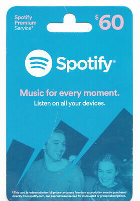 Spotify Music Premium $60 Gift Card (6 Months)