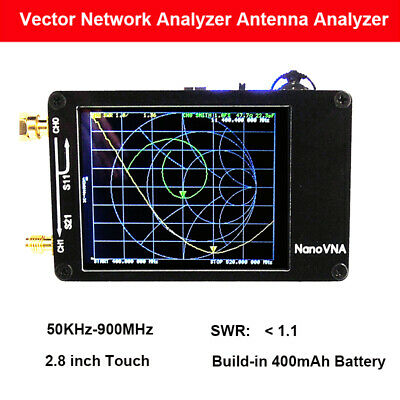 NanoVNA 50KHz-900MHz Handheld Vector Network Analyzer Kit MF HF VHF UHF Antenna