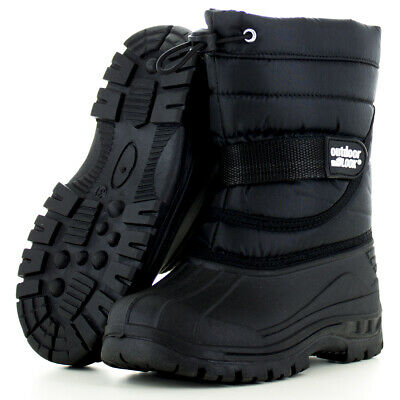 Outdoor Look Boys Girls Kids Frosty Waterproof Thermal Lined Winter Snow Boots