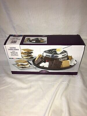 Nostalgia SMM200Indoor Electric Stainless Steel S'mores Maker 4Compartment Trays