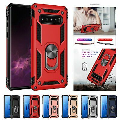 Case Ring Holder Shockproof Armor Cover For Samsung S10 S9 S8 Plus Note 10 9 8