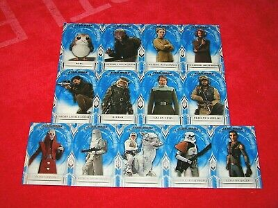 2018 Topps Star Wars Masterwork Blue Parallel Lot Of 13 Different Cards (18-58)