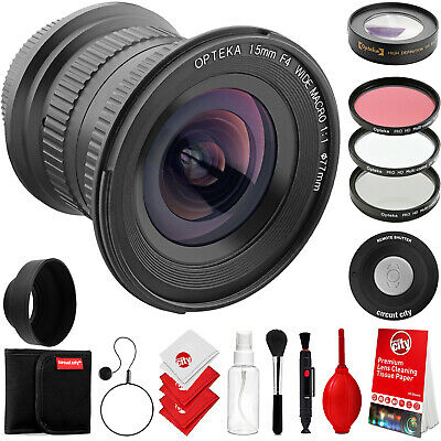 Opteka 15mm f4 Macro Wide Angle Lens for Canon Digital SLR Cameras & Accessories