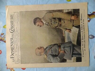 journal italien la domenica del corriere original du 23 juin 1940