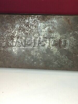 Antique Vintage Nabisco Metal Tin Container With removable Top