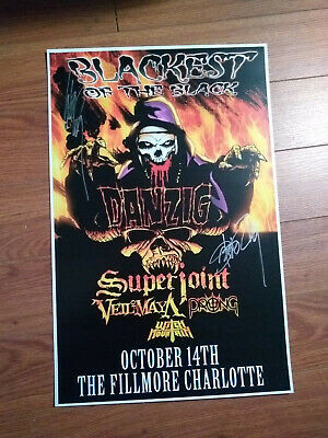 Autographed Blackest of the Black Poster by Steve Zing & Glenn Danzig NO RESERVE