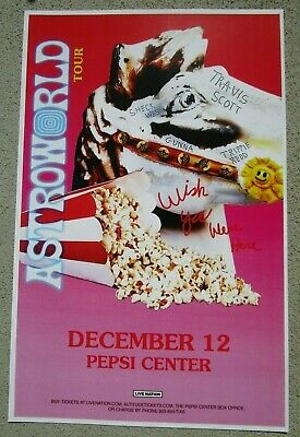 TRAVIS SCOTT AstroWorld 2018 Pepsi Center - Denver, Colorado Promo 11x17 Poster