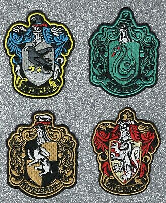 Hufflepuff, Ravenclaw, Gryffindor, or Slytherin embroidery patch