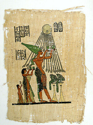Egyptian Artwork on Hand Made Papyrus - Old Hieroglyphics Scrolls