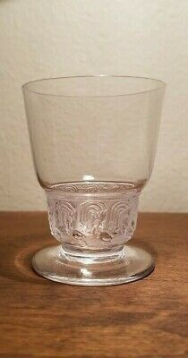 Antique R. Lalique Frosted Crystal Glass Tumbler Bantam Mesanges Birds RENE RARE