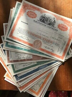 Large Qty x 20. f share certificates for the bulk reseller. 1669