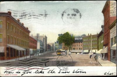 Franklin Square, Norwich, CT- sent 1907