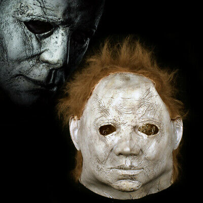 New Halloween 2 Mask 1981 Ultimate Michael Myers Cosplay Latex Scary Film Party