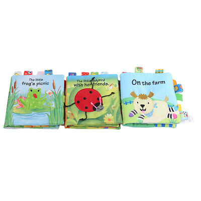 Soft Animals Cloth Baby Learning Book Kid Child Intelligence Development Play JA