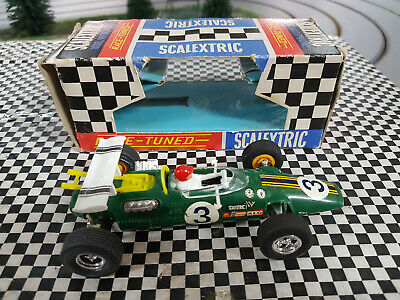 Scalextric C8 Vintage 60s Lotus Indy powersledge in superb original cond Boxed