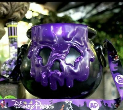 Disney Parks Halloween 2019 Purple POISON APPLE CAULDRON Popcorn Bucket +3 BONUS
