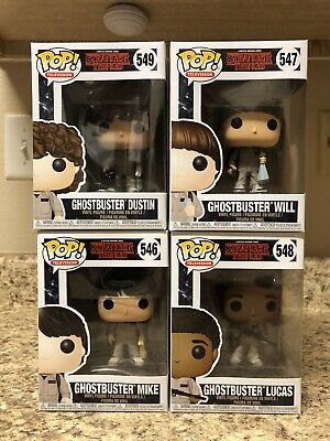 Funko Pop! Stranger Things Ghostbusters Lot Mike Dustin Lucas Will DAMAGED