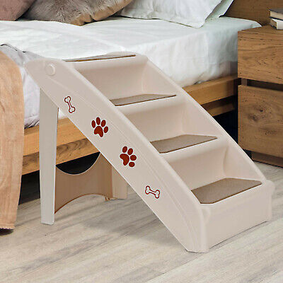 Portable Dog Steps Foldable Pet Stairs Great for Smaller/Hurt/Older Pets Home