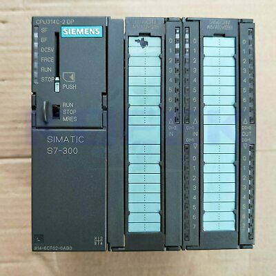 Used Siemens PLC 300 series 6ES7314-6CF02-0AB0 tested In Good Condition