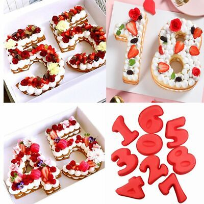 Large Silicone Number 30 Cake Pan Tin Mould 30th Pearl Wedding Anniversary Birthday 3 0