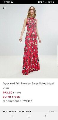 Frock And Frill Tall Maxi Dress Size 14
