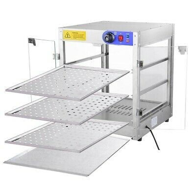 3Tier Food Warmer Commercial Pie Pizza Cabinet Display Showcase Countertop 1P