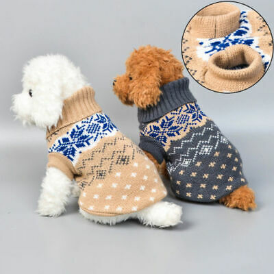 Pet Cat Dog Knitted Jumper Winter Sweater Coat Jacket Puppy Vest Clothes XS-2XL