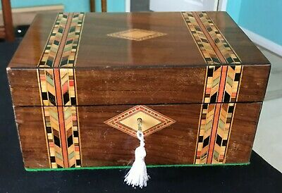 Antique Tunbridge Ware Jellery Box
