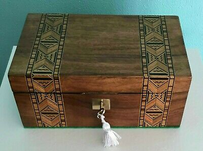 Antique Tunbridge Ware Jewellery Box