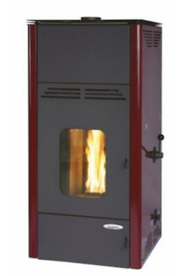 LAMINOX FIORELLO AIR F7A-R BORDEAUX STUFA A PELLET 9 KW 200 m³