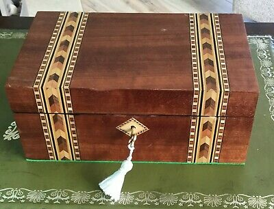 Antique Style Tunbridge Ware Jewellery Box