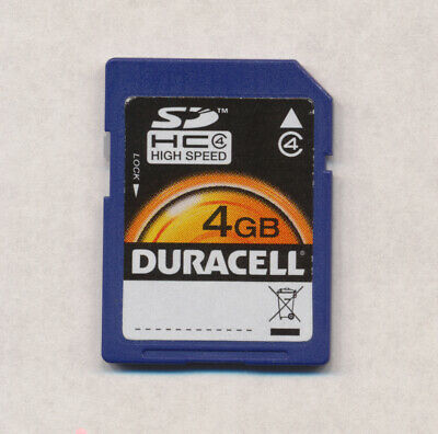 Duracell 4GB Digital High Capacity (SDHC) Memory Card - Used and Working!