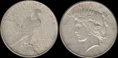 USA: Original 1923D Silver Peace Dollar $1