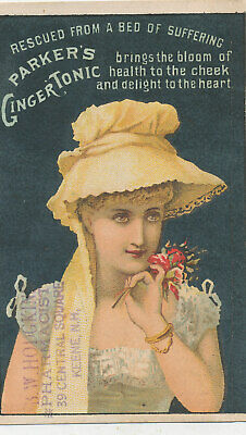 D870  Victorian Trade Card Parkers Ginger Tonic Health