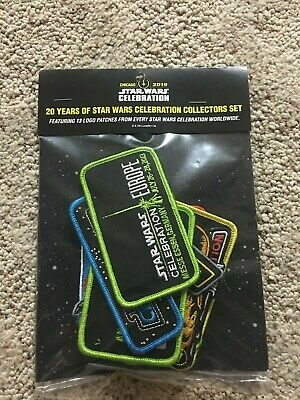 Star Wars Celebration Chicago 2019 20th Anniversary 13-patch set!  New in Bag