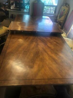 Antique Style Superb Quality 9 ft Dining Table Twin Pedestal French Style