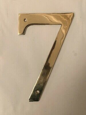 "3 INCH CAST /""BRIGHT CHROME /"" FINISH  METAL DOOR NUMBER  8  NIB"