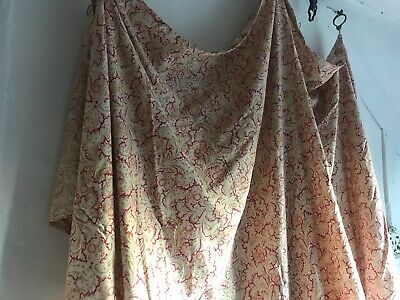 Vintage French Fabric Antique Cotton Softly Worn Pink Paisley Sewing Projects