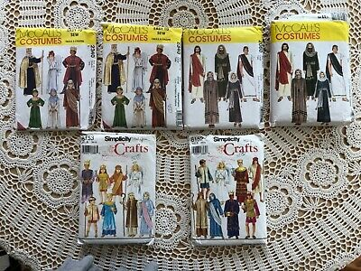 Lot Of Christmas Nativity & The Passion Play Costume Sewing Patterns Adult-Child