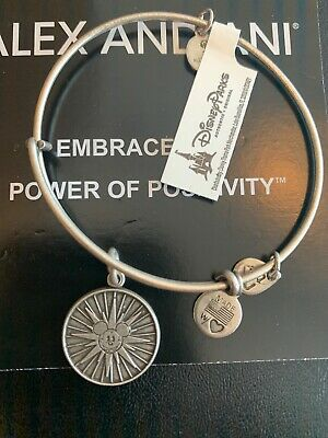 NEW Disney ALEX AND ANI Disneyland Mickey's Fun Wheel SILVER Bangle Bracelet