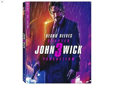 John Wick: Chapter 3 - Parabellum, 2019 (Blu-Ray + DVD + Digital) BRAND New!
