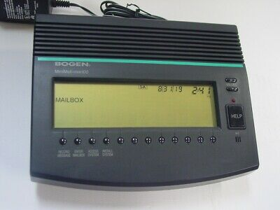 Bogen Mini Mail MM-100 voicemail unit pulled from working service, users guide